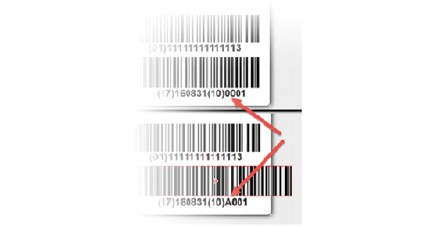 Common UDI label mistake: The barcode prints over the edge of the label