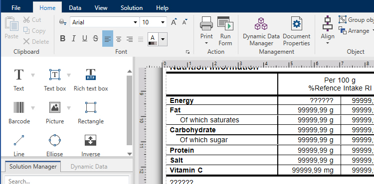 What Makes A Food Label Design Tool Perfect and Ready For New Nutrition Regulations