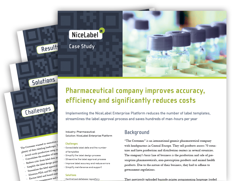 Pharma Case Study  Nicelabel