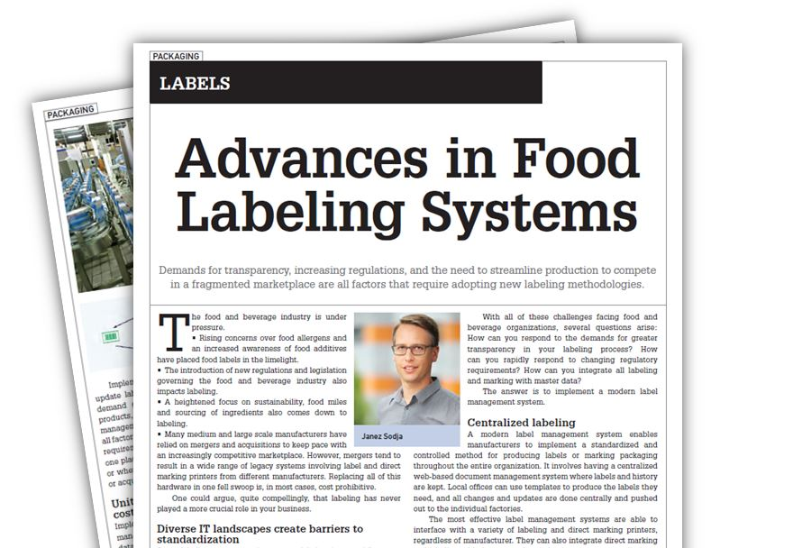 Advances in Food Labeling Systems