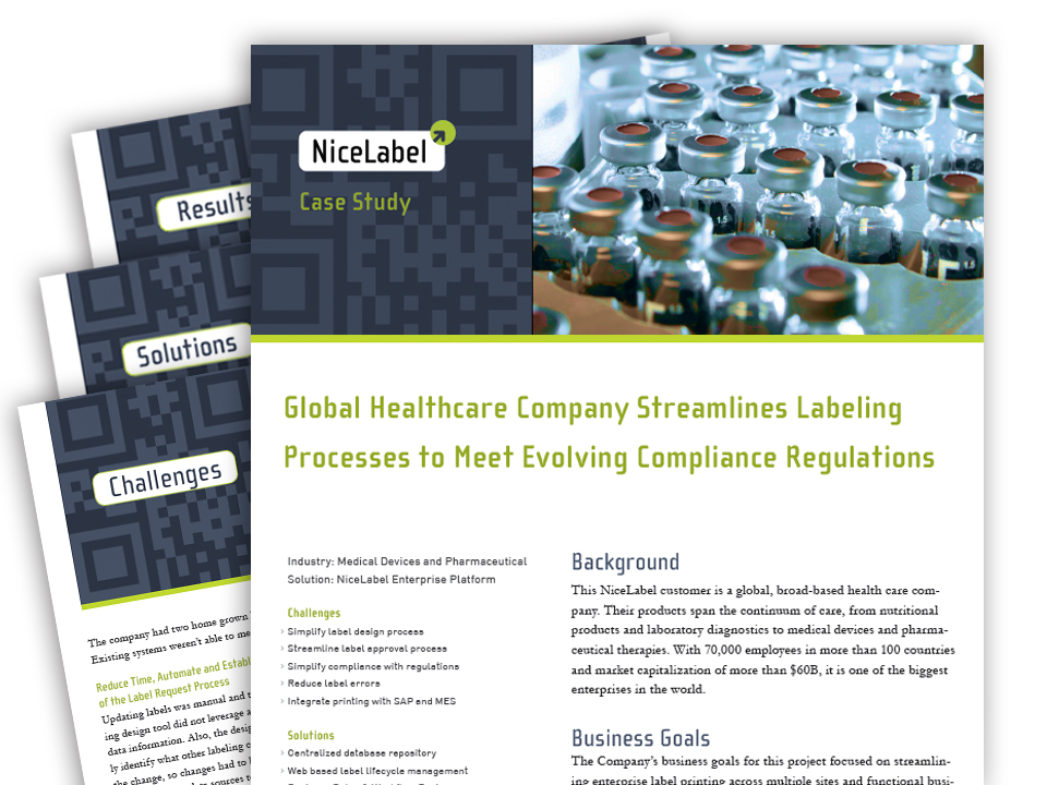 NiceLabel Healthcare Case Study
