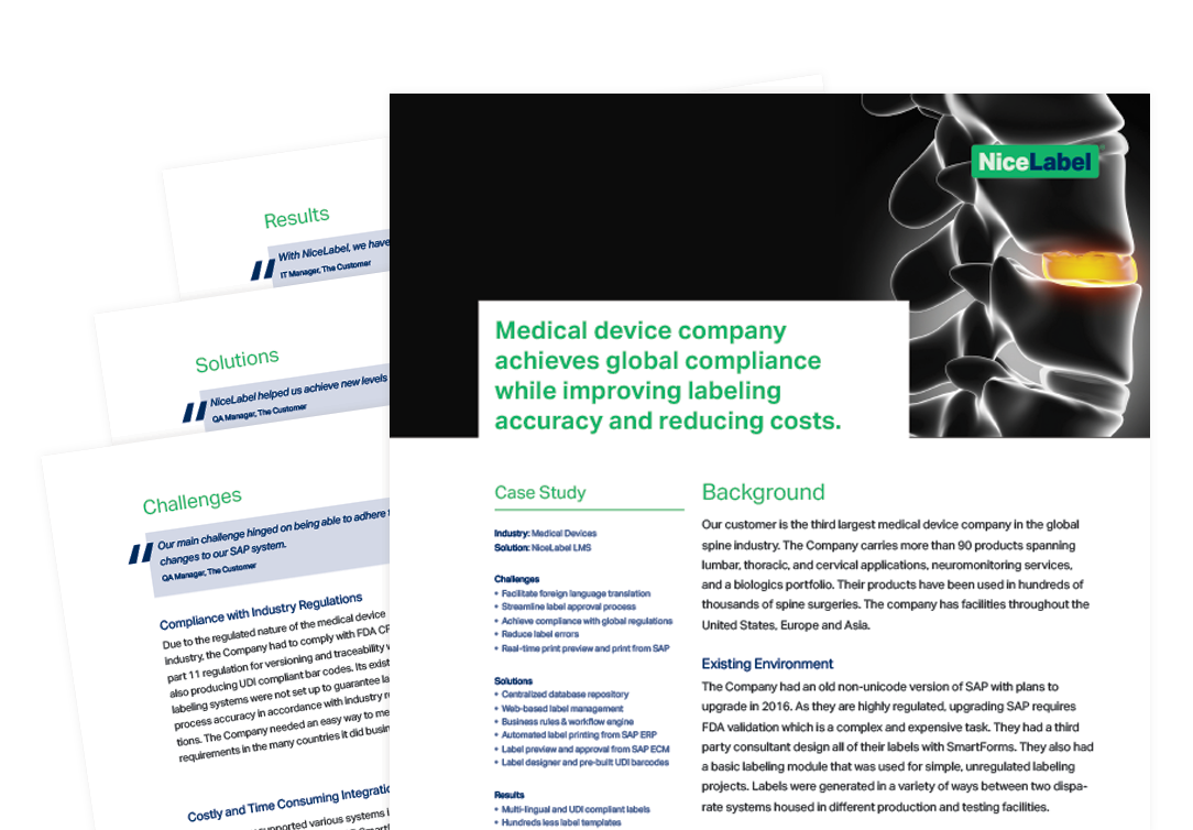 NiceLabel Medical Devices Case Study