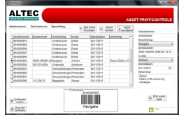 Asset label printing application & more