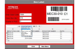 Label printing application with dynamic preview