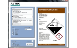 GHS chemical labeling with dynamic preview