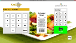 Fresh Food Labeling Touch Screen Application