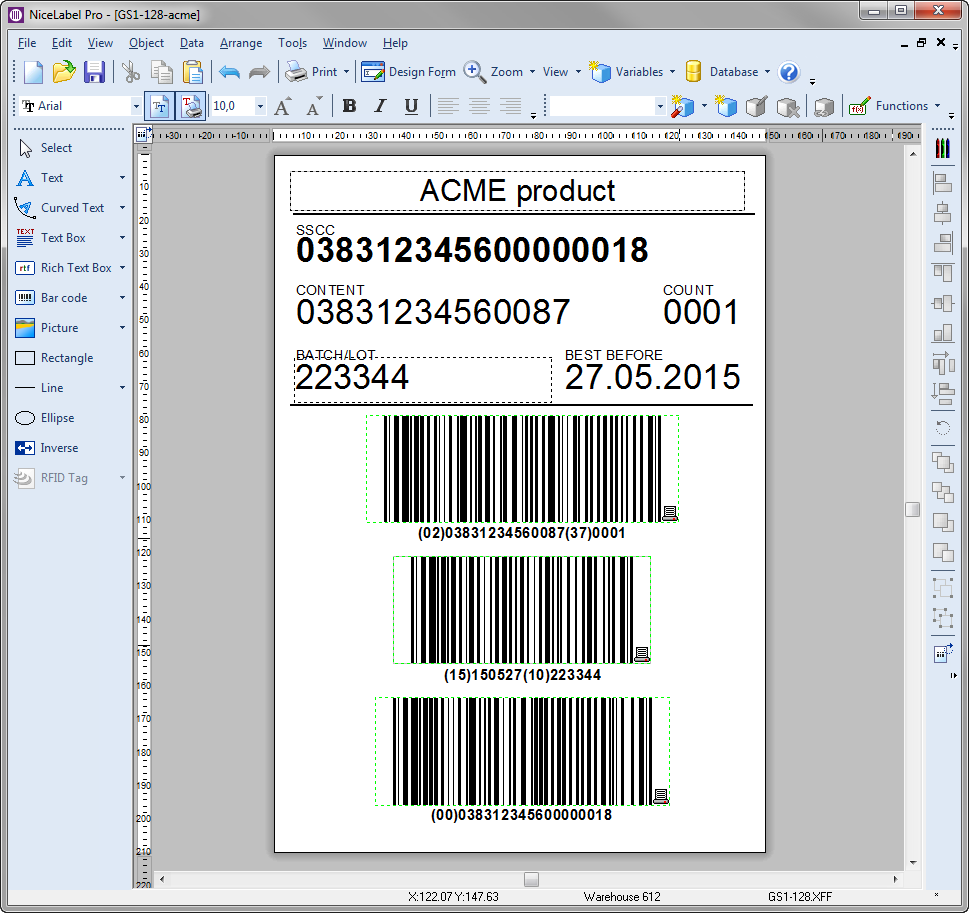 Professional barcode label designer nicelabel for Mail designer pro templates