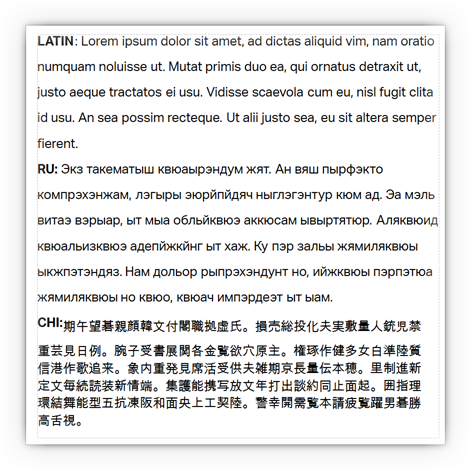 multi-lingual labels