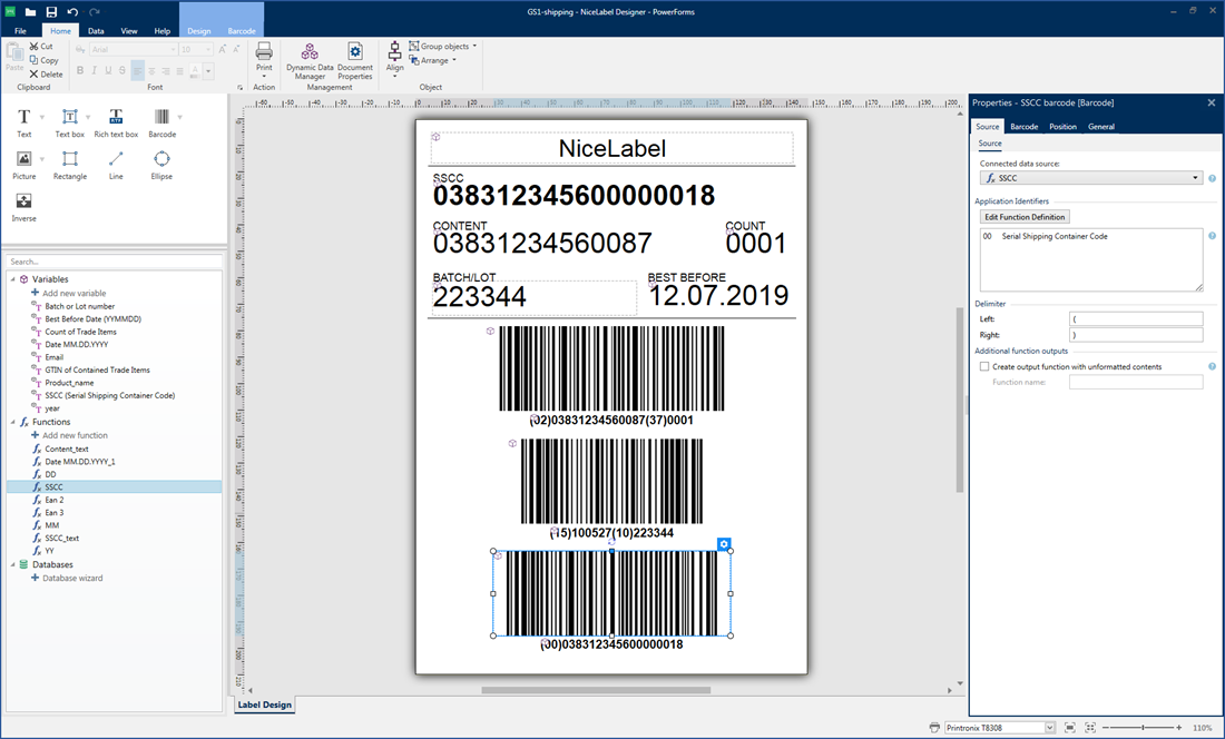 Barcode And Label Design Nicelabel