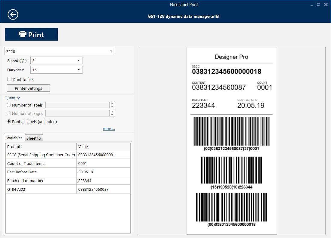 NiceLabel_Print Job Application Form To Print on