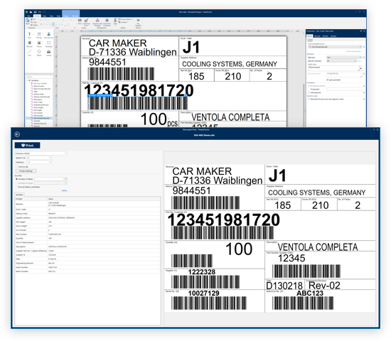 Labeling for automotive supply chain | NiceLabel